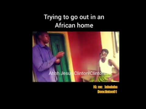 Trying to go out in an african home