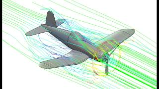 CFD simulation of Vought F4U Corsair