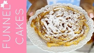 How To Make Easy Pancake Mix Funnel Cakes // Lindsay Ann Bakes