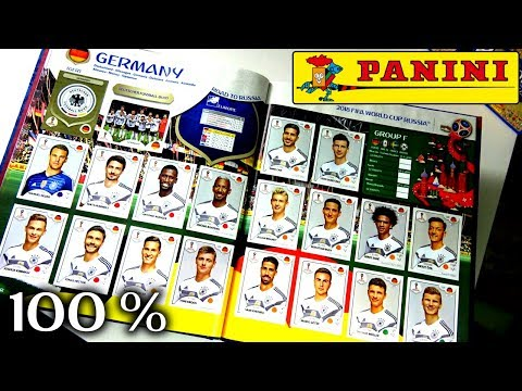 100 % Panini FIFA WORLD CUP 2018 WM Sticker Collection: KOMPLETT! FULL ALBUM!