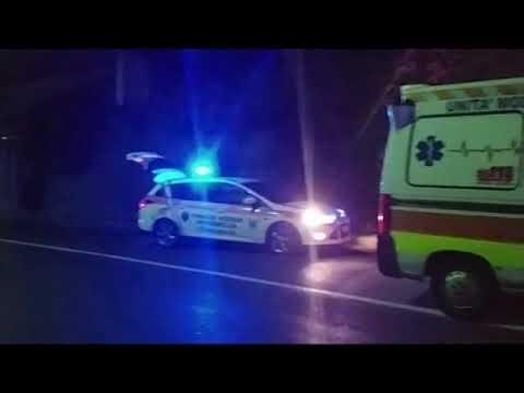 INCIDENTE LA SCORSA NOTTE LUNGO L'AURELIA: UN'AUTO SI SCHIANTA CONTRO UN MURO