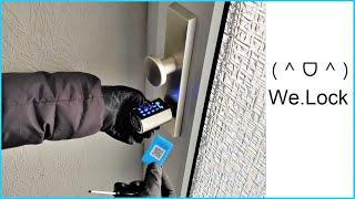 WE.LOCK intelligentes Türschloss mit RFID-Karte, App Steuerung und Tastenfeld - Keyless Moschuss.de