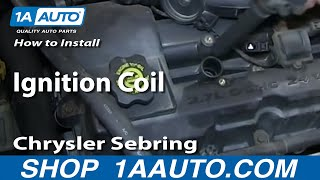 How To Install Replace Ignition Coil 2001-06 Chrysler Sebring 2.7L