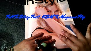 ASMR InStyle Magazine Flip 📚👓 Triggers Whispering Gum Chewing Hand Movements
