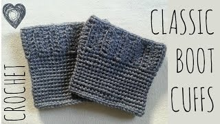 Classic Crochet Boot Cuffs Pattern | Tutorial