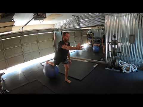 Reverse Lunge on Swissball - The ARC Method