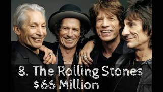 Top 10 richest Bands in history