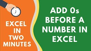 How to Add 0 Before a Number in Excel (No formula or VBA needed)