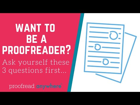 How to know if you would be a good proofreader - YouTube
