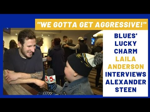Laila Anderson interviews Alexander Steen after Game 6