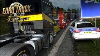 Euro Truck Simulator 2 Multiplayer Huge Traffic Jam