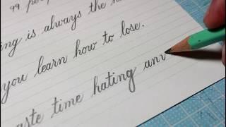 Handwriting Practice Day 96 | English Cursive Handwriting Practice | New Sentences 4 (Pencil)