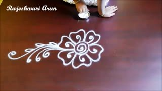 innovative rangoli designs without dots for ugadi || free hand kolam designs || simple muggulu