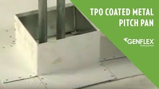 TPO Coated Metal Pitch Pan