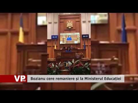 Bozianu cere remaniere și la Ministerul Educației