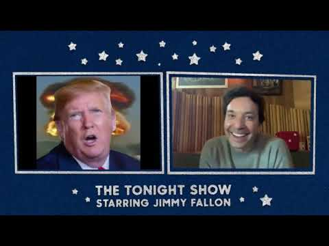 Trump lip-sync's Sarah Cooper on the Jimmy Fallon show
