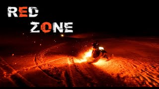 RED ZONE - Snowmobile on Fire - Drone FPV