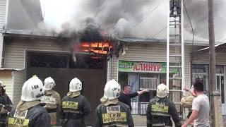 Пожар в частном секторе вызвал переполох.