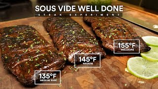Sous Vide WELL DONE STEAK Experiment!