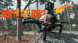 Is a DJI FPV Drone with a Gopro mount a bad idea? Welp it depends!