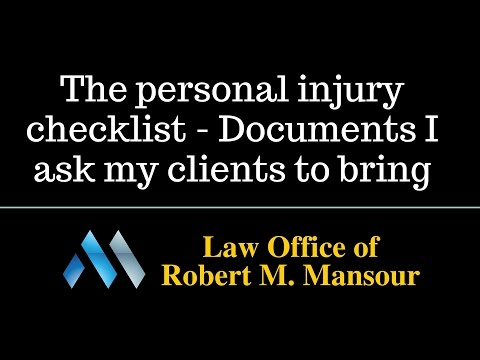 Santa Clarita lawyer discusses the personal injury checklist he uses with clients
