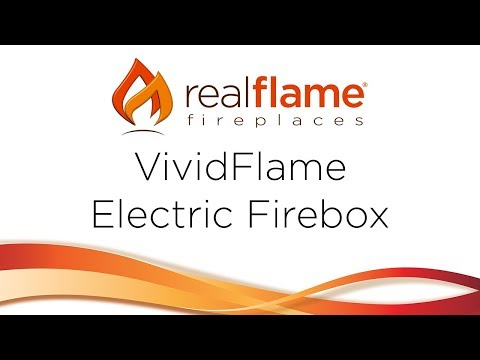 Real Flame VividFlame LED Electric Firebox Components Overview