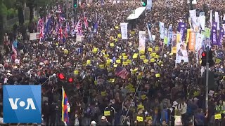 Thousands Take to the Streets of Hong Kong Again
