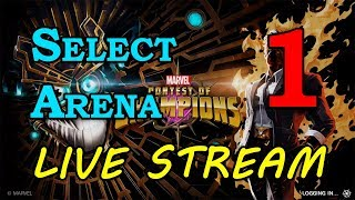Select Arena - Round 2 - Part 1 | Marvel Contest of Champions Live Stream