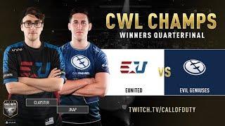 eUnited vs Evil Geniuses | CWL Champs 2019 | Day 4