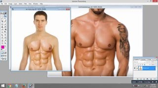 Photoshop Tutorial Get 6 Pack Abs in Photoshop 7.0