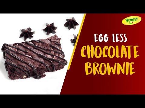 How to Make Egg Less Chocolate Brownie | YummyOne