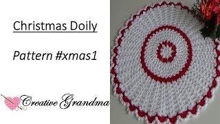 Christmas Lace Crochet Doily Tutorial  -  Holiday Crochet