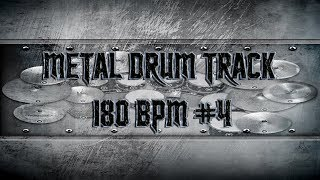 Heavy Metal Drum Track 180 BPM | Remix (HQ,HD)