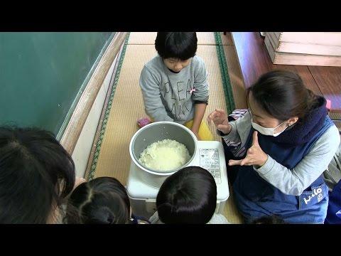 種子島の学校活動:納官小学校もちつき・門松つくり