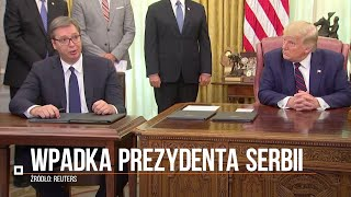 Prezydent Serbii nie wiedział, co podpisuje? Kuriozalna sytuacja w Białym Domu