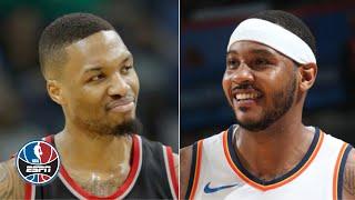 Carmelo Anthony commands the respect of Damian Lillard and CJ McCollum - Woj | NBA Countdown
