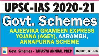 Government Schemes for Civil Services - TAP - Day 29 - UPSC 2020-21 - PT's IAS ACADEMY