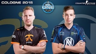 CS:GO - Fnatic vs. EnVyUS [Dust2] - ESL One Cologne 2015 - Grand Final Map 1