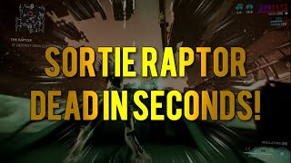 Warframe: How to Kill Sortie Raptor in Seconds!