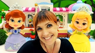 Учим английский с куклами 🎎 Принцесса София и Маша #КапукиКануки. Английский магазин + мультик