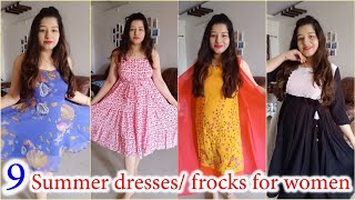 9 Summer Dresses/ Frocks For Women / Dresses For Summers For Women Everyday Wear