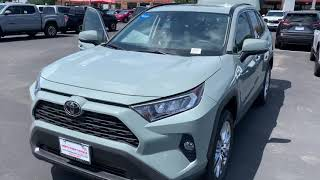 2020 Lunar Rock Toyota RAV4 With Light Gray Interior