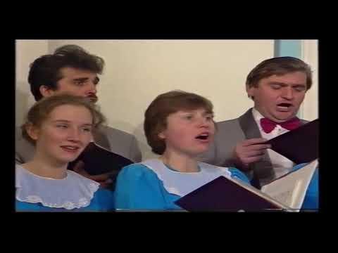 """Хор и оркестр """"Логос"""", Рождественский концерт в Рахманиновском зале МГК, 1994г"""