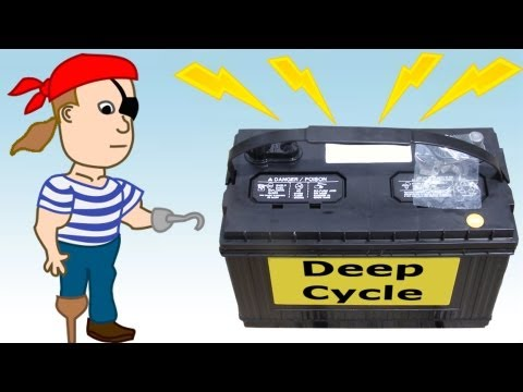 DIY Battery Bank for Backup Emergency Electricity – Pirate Lifestyle TV ™ Quickie 079