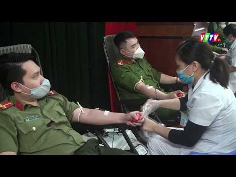 70 cán bộ, chiến sỹ công an huyện Vũ Thư tham gia hiến máu cứu người