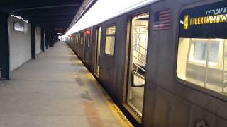 preview picture of video 'IRT Livonia Ave Line: R142 4 Train at Pennsylvania Ave-Livonia Ave (Weekend)'