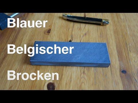 Blauer Belgischer Brocken... Messer schärfen Teil 1