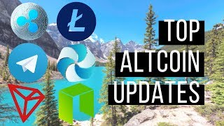 Top Altcoin Updates - Neo, Telegram Token, Litecoin, High Performance Blockchain and Tron