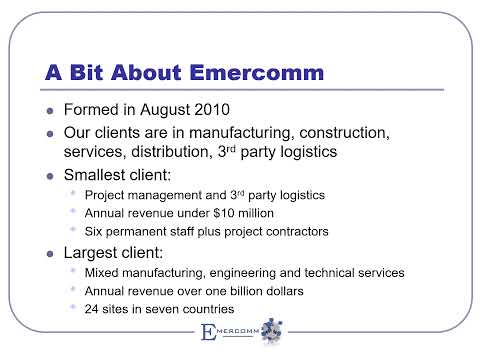 Emercomm Services Overview