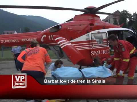 Bărbat lovit de tren la Sinaia